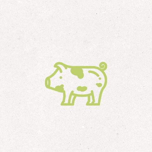 Fleisch von den Bunten Bentheimer Bioschweinen